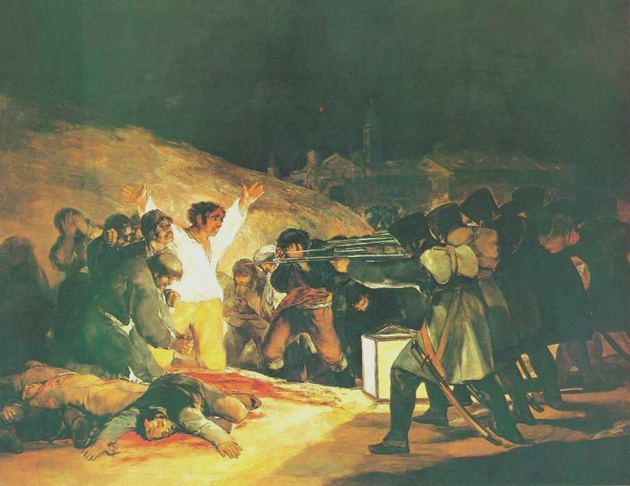 고야의 '1808년 5월 3일'이라는 작품이 왜 유명한 것일까?